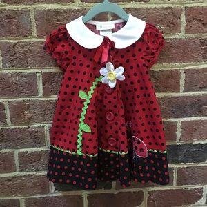 Girls 2T Ladybug Dress
